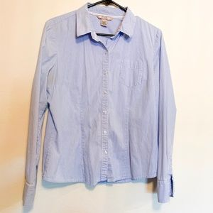 Pin-stripped Button Up Blouse